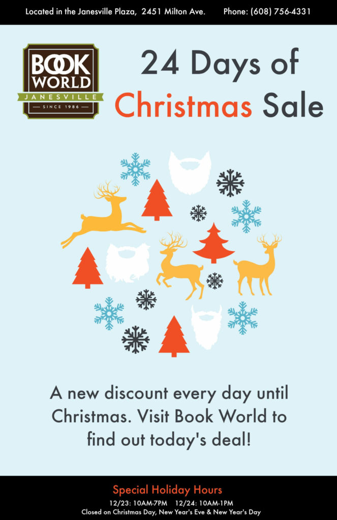 Shop Book World of Janesville's 24 Days of Christmas Sale